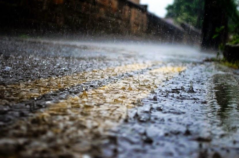 podróż w deszczu