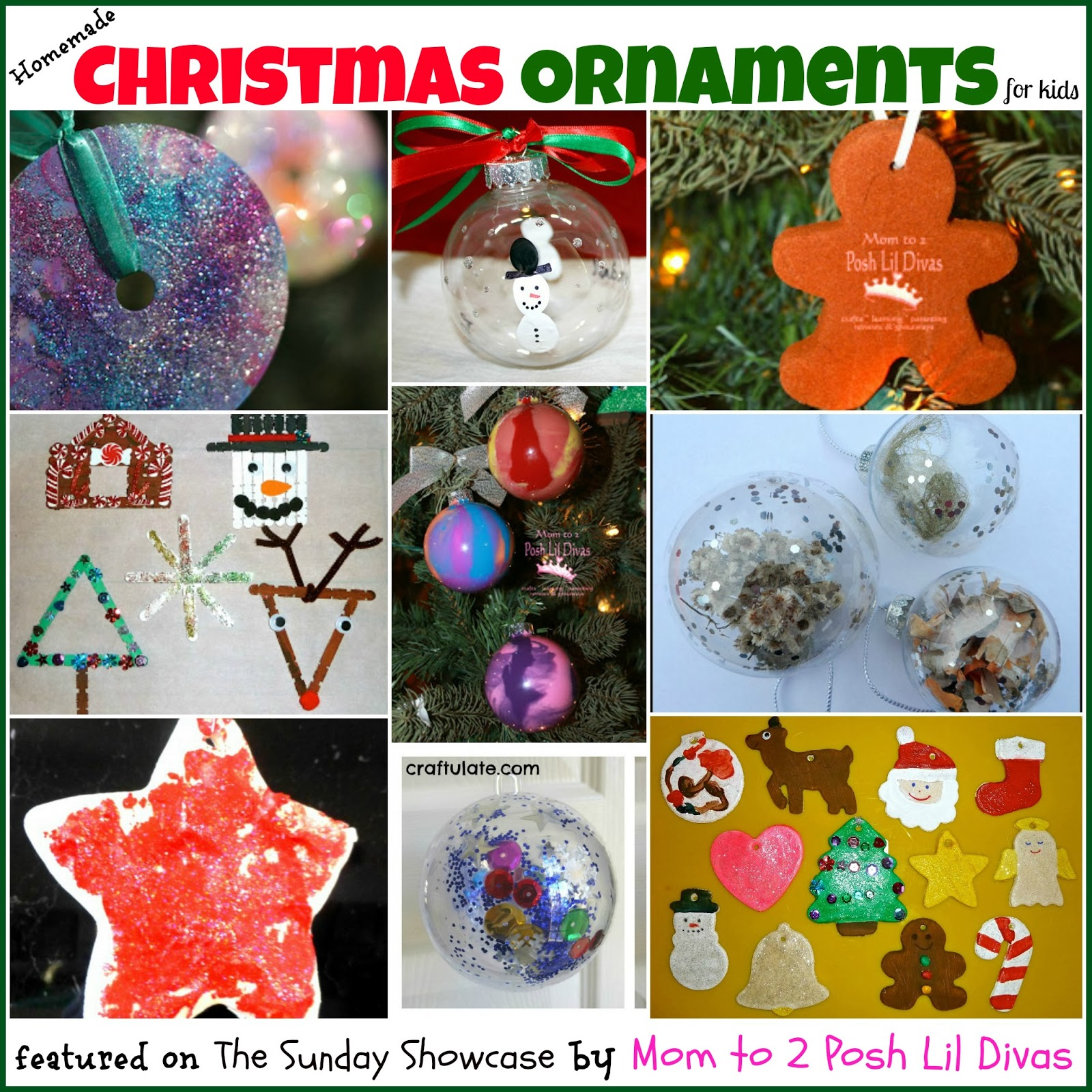 Mom to 2 Posh Lil Divas: Kids DIY Homemade Christmas Ornaments {The ...