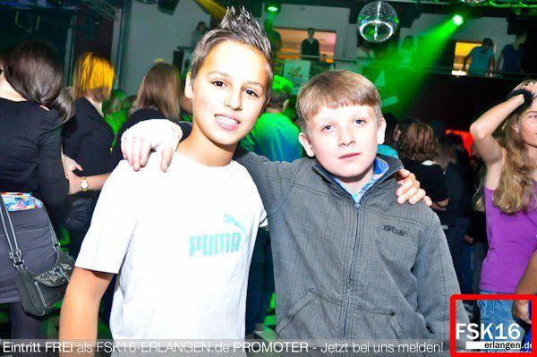 Eindeutig zu jung für FSK16 Party in Erlangen