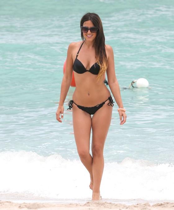 black bikini, celebrity bikini