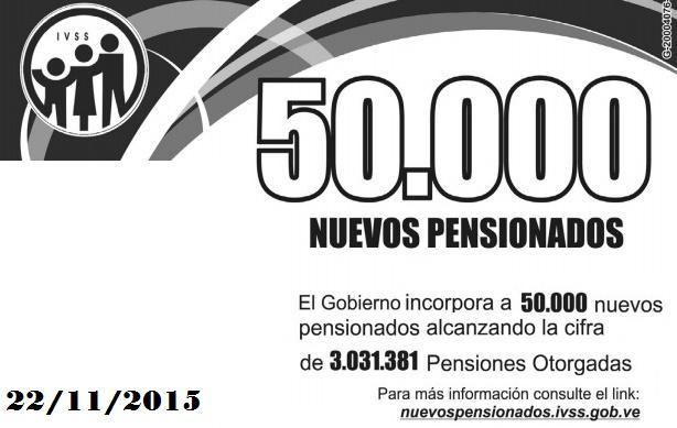 Consulta el Listado de Pensionados de IVSS del 22 de noviembre de 2015