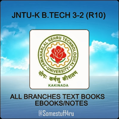 jntuk-3-2-notes-text-books