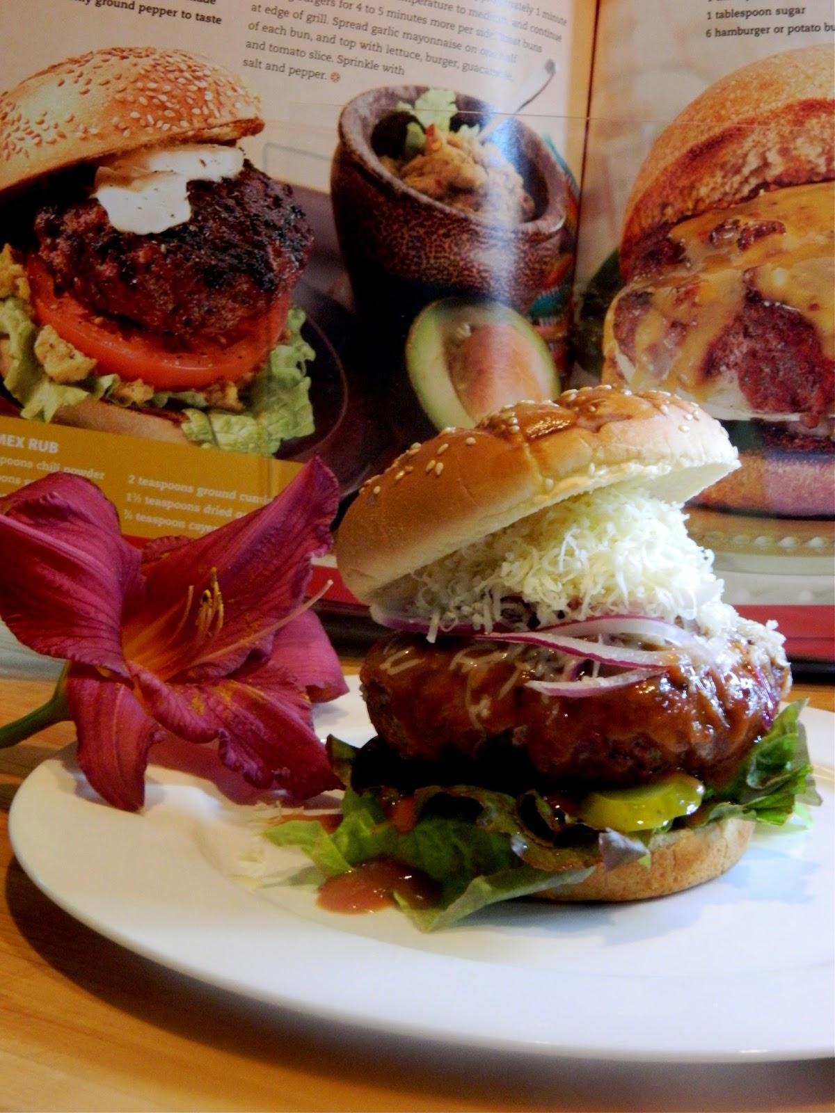bbq burners burger fondant au ch vre sauce la bi re. Black Bedroom Furniture Sets. Home Design Ideas
