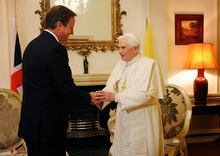 Cameron and Pope Benedict