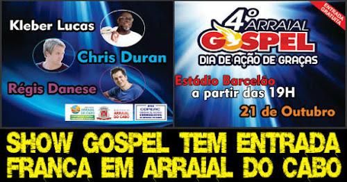 Show Gospel começa nesta sexta em Arraial do Cabo.