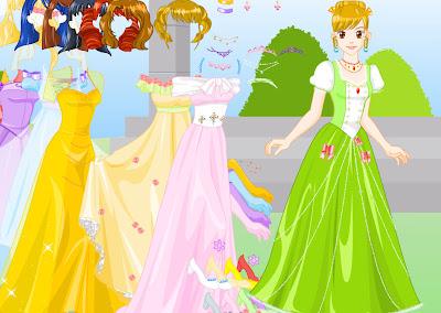 Juego para vestir a la princesa rubia