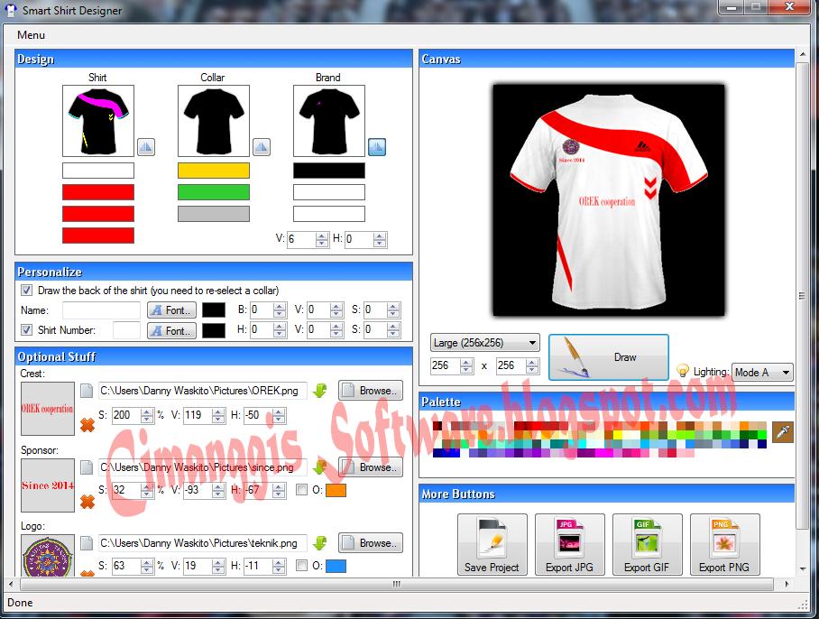 Smart shirt designer 2 2 0 0 cimanggis software for T shirt logo design software