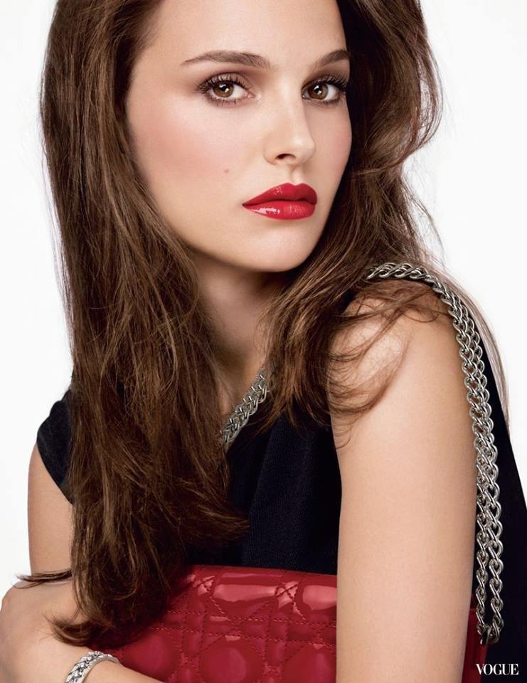 Natalie Portman Red Lips Hot Wallpaper