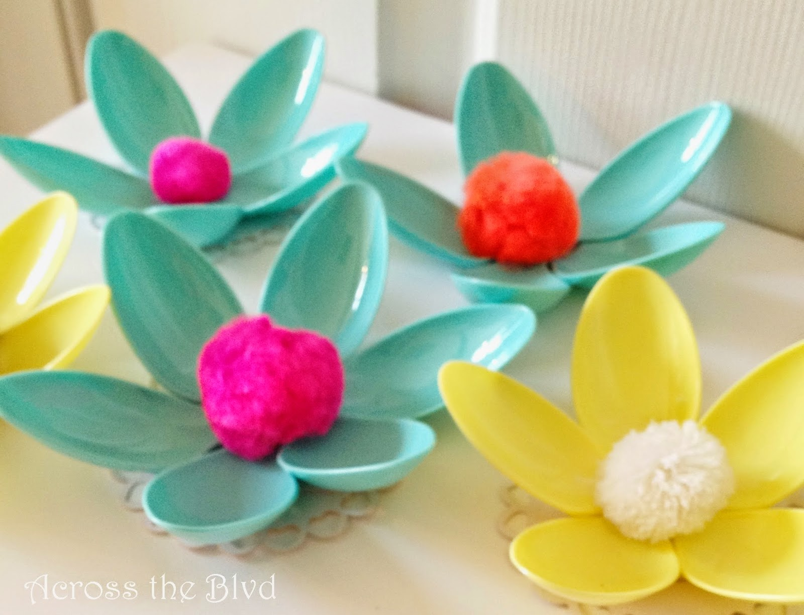 Plastic Spoon Flowers