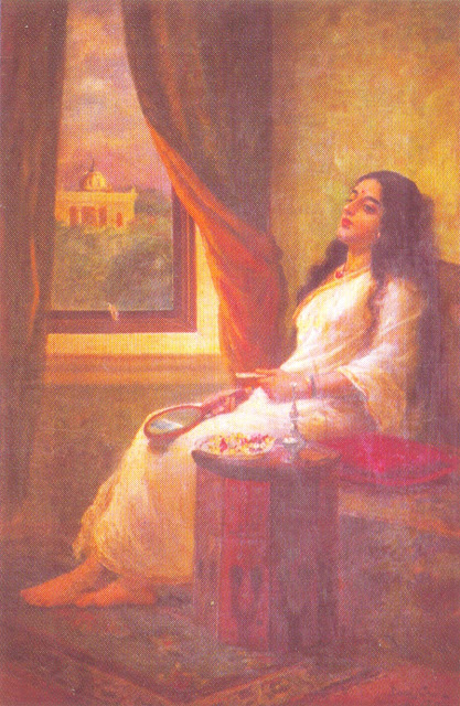 Raja Ravi Varma's Paintings: Women Contemplation
