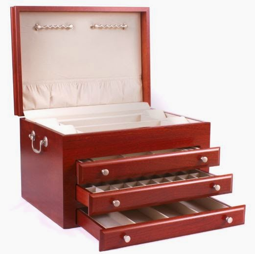 solid cherry hardwood jewelry chest