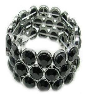 free bracelet-by pari-homeshop18-women-crystal-black