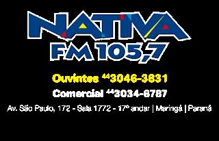 ouvir a Rádio Nativa FM 105,7 Maringá PR