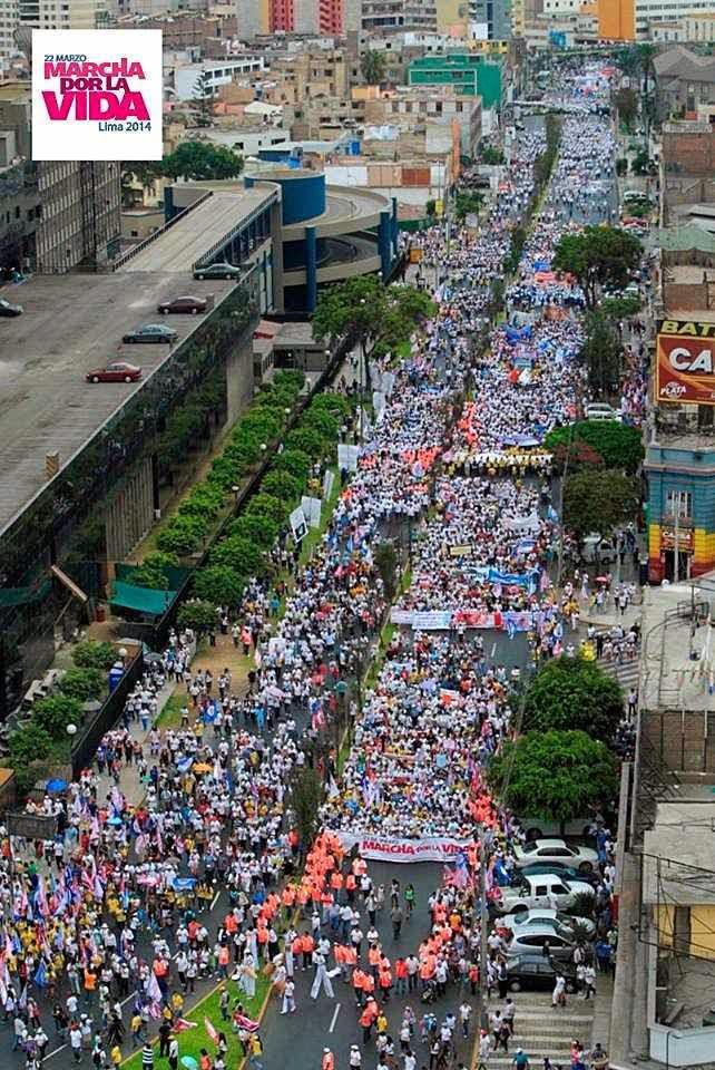 Marcha pela Vida, Lima. 22.03.2014