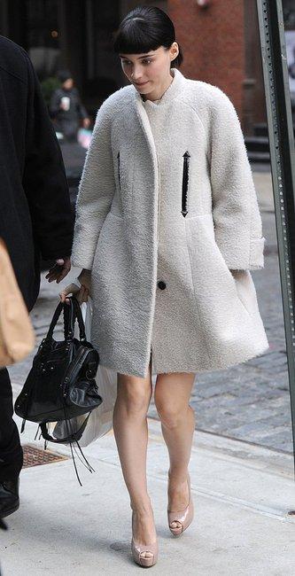 Rooney Mara Carven Alpaca coat