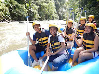 ready on the boat to go rafting