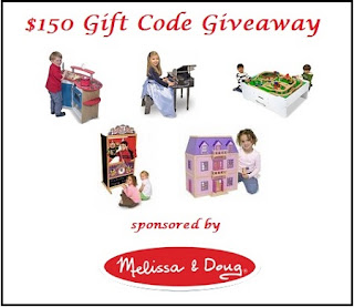 Melissa & Doug $150 Gift Code Giveaway Button