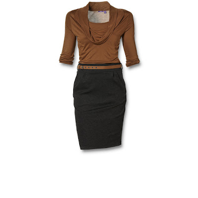 robe trompe l oeil brun noir e-shop mexx