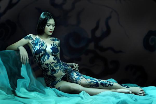 Ảnh gái đẹp sexy với body painting Phần 1 3