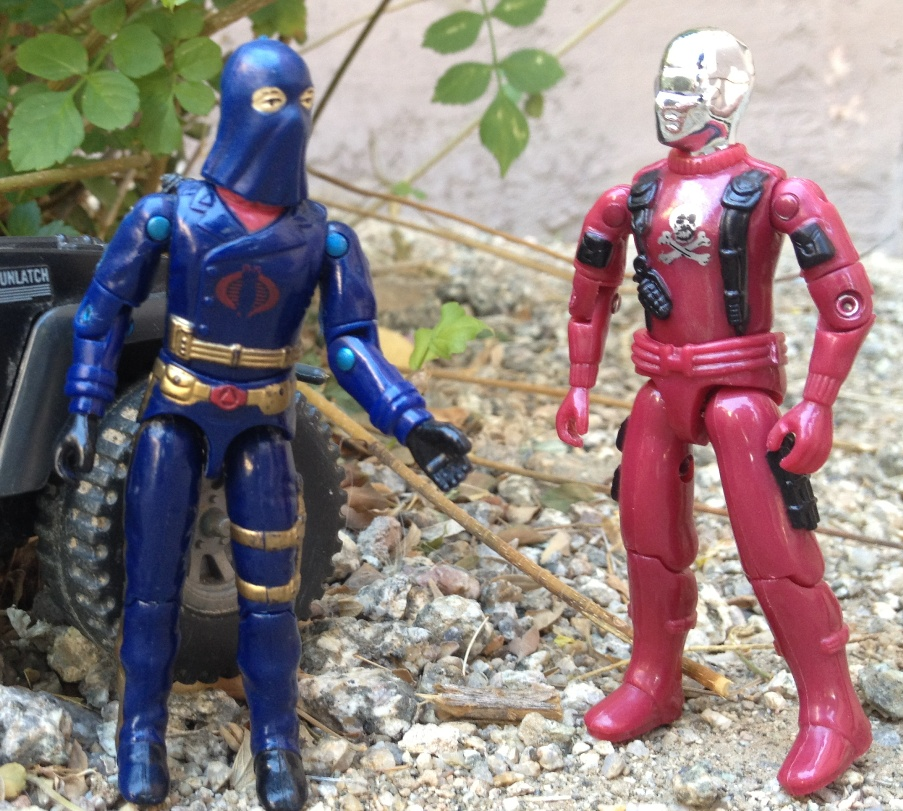 1984 Hooded Cobra Commander, Mail Away, Stinger, Red Shadows Cobra Mortal, Bootleg, Black Major