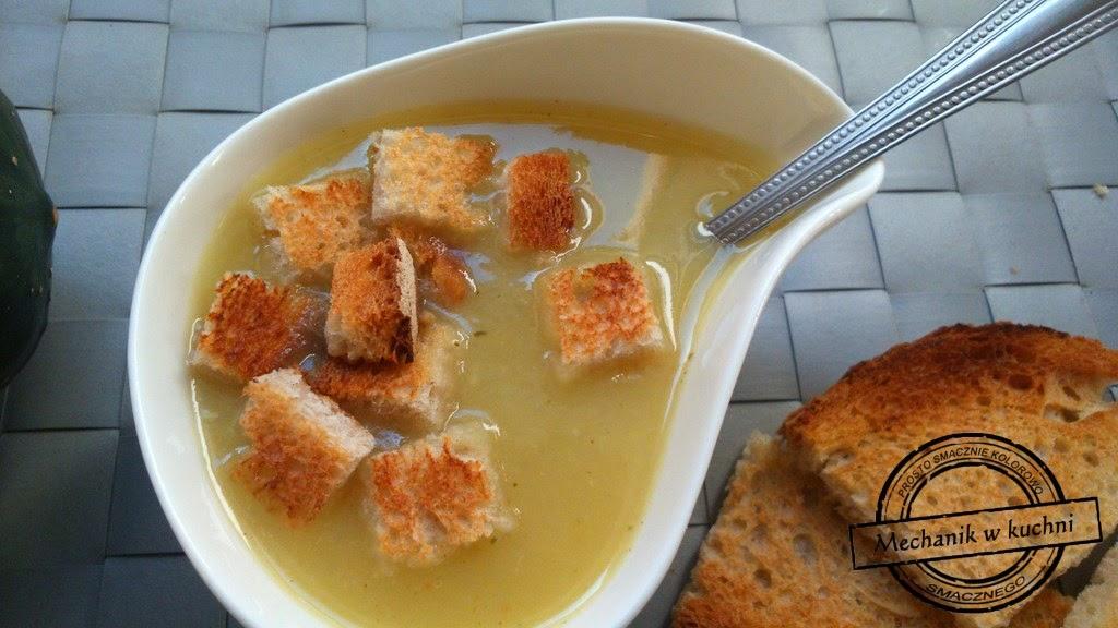 Krem zupa cebulowa z grzankami dla dzieci mechanik w kuchni
