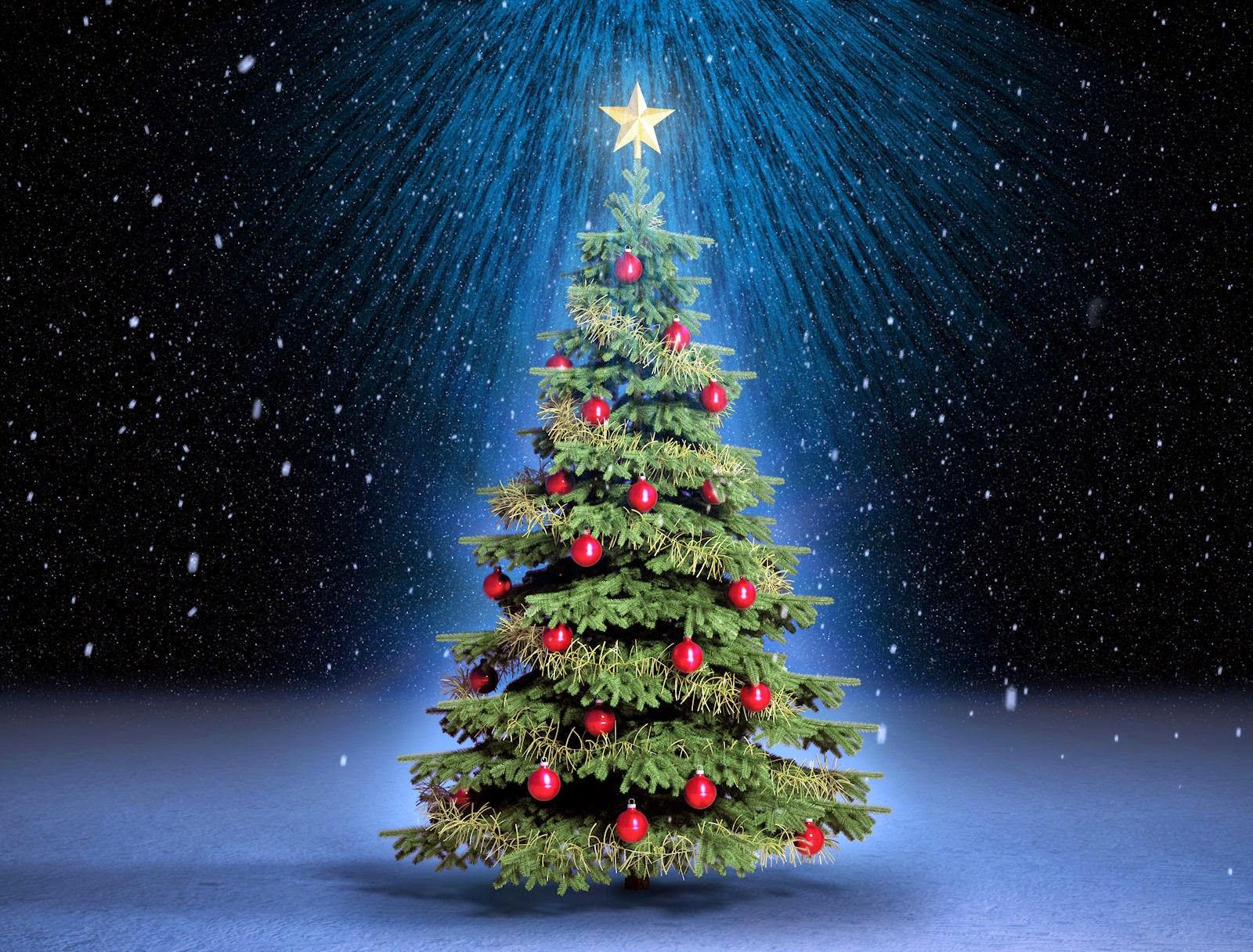 La cara oculta de los rboles de navidad ambientologosfera - Arboles de navidad dorados ...