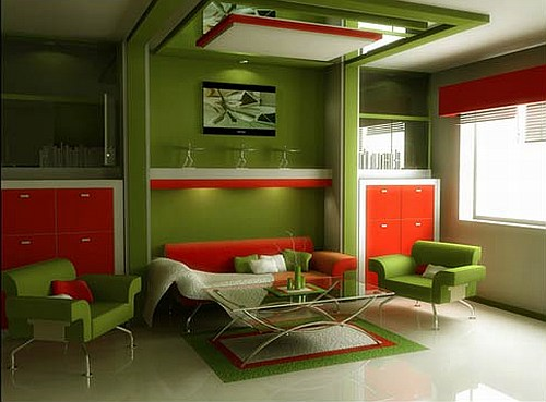 Green And Red Living Room Part 48