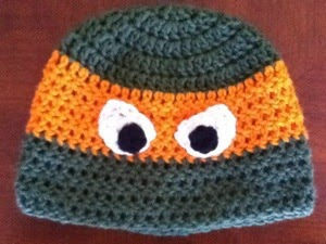 Free Crochet Pattern For Ninja Turtle Hat With Mask : Repeat Crafter Me: Crochet Ninja Turtle Hat Pattern