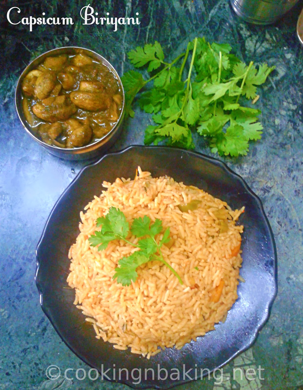 Capsicum Biriyani | How to make Capsicum Biriyani