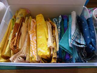 yellow and aqua quilt colors