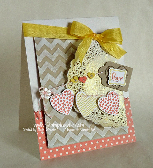 Stampin' Up! Hearts a Flutter Love Card
