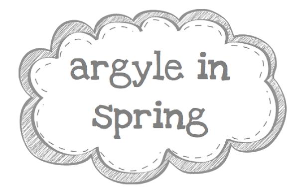 argyle in spring