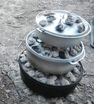 how to bake off grid in a dutch oven