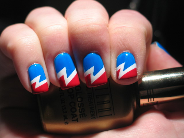Lacquerish fourth of july grateful dead mani all you grateful dead fans out there who love polish as much as i do stand up lol prinsesfo Gallery