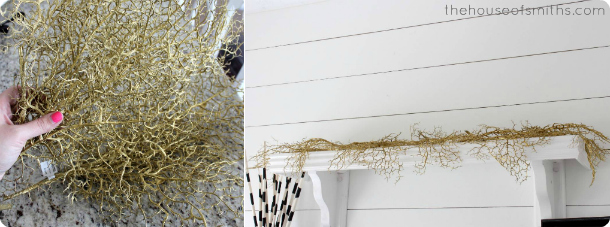 Gold foliage - halloween decorating - thehouseofsmiths.com