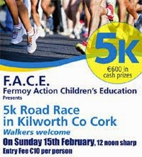 5k race nr Fermoy in NE Cork