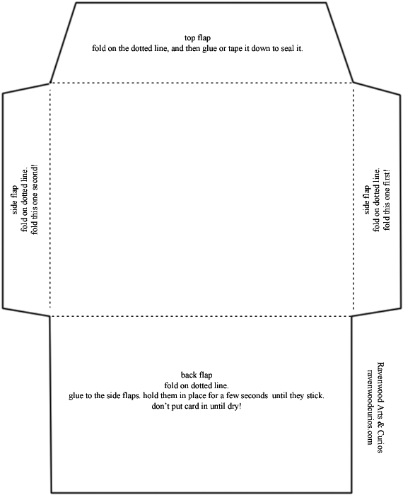 Small envelope template
