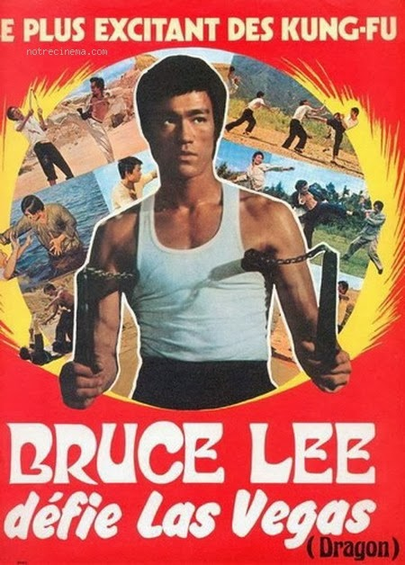 Bruce Lee Defies Las Vegas French Film Poster