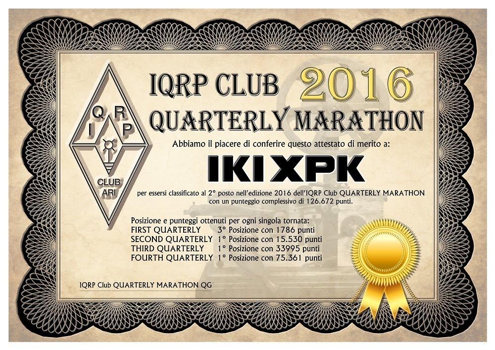 IQRP Marathon 2016