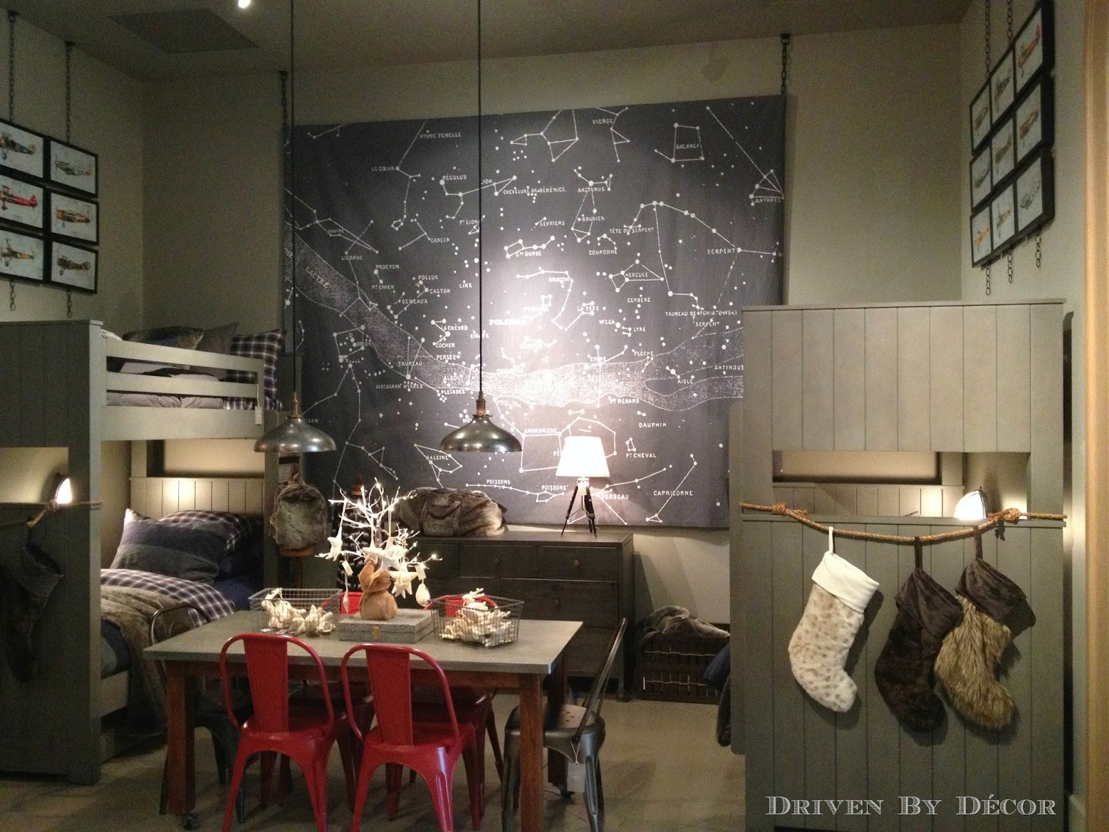 Restoration Hardware Large Map Constellations