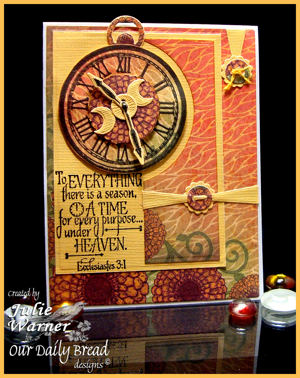 Stamps - Our Daily Bread Designs God's Timing, ODBD Custom Matting Circles Die, ODBD Custom Circle Ornaments Dies, ODBD Blooming Garden Paper Collection