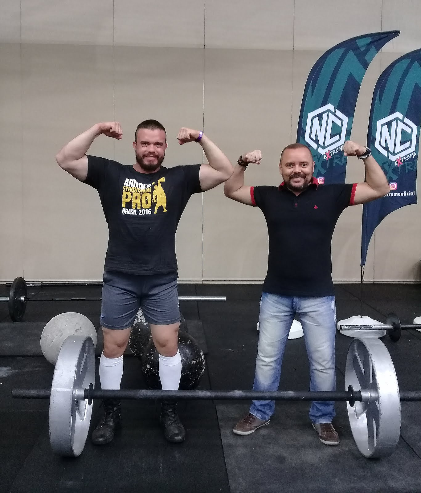 Com o atleta Ataide do Strongman