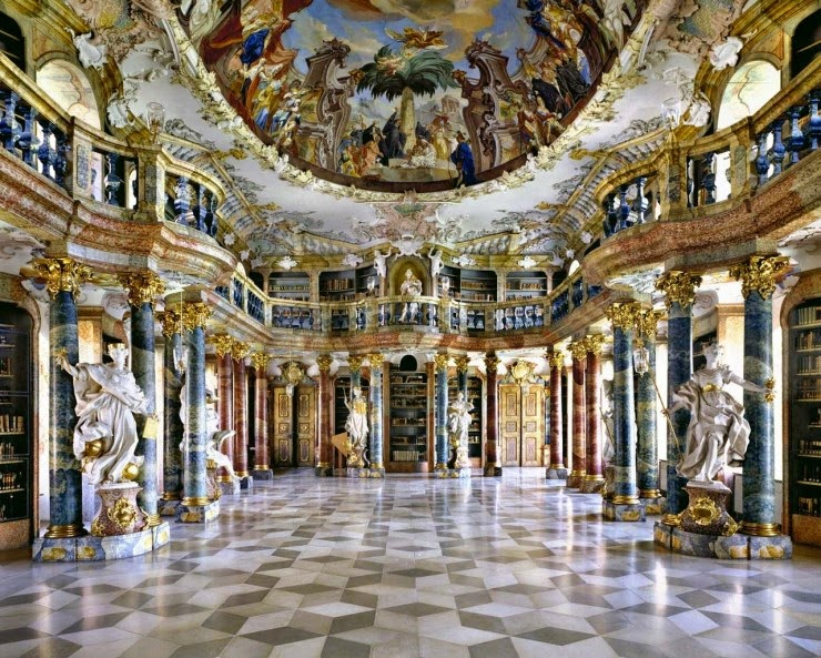 2. Wiblingen Monastery Library, Germany - 31 Incredible Libraries and Bookstores Around the World
