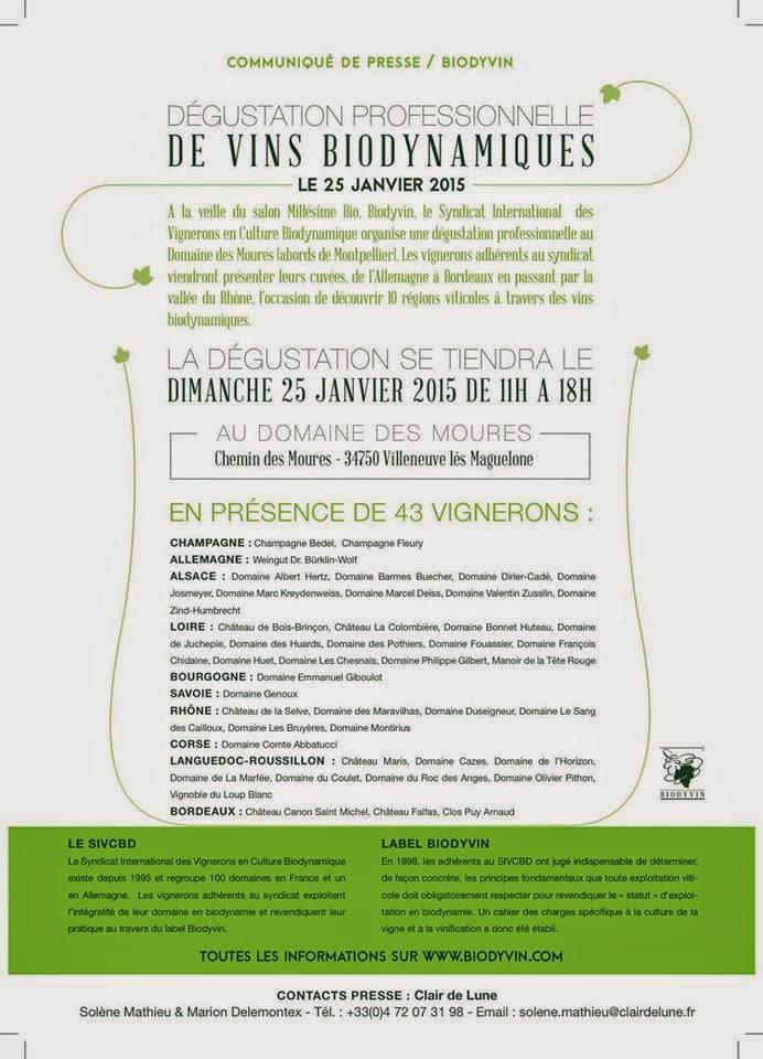 Ch teau de la selve salons pro montpellier biodyvin 25 for Salon bio montpellier