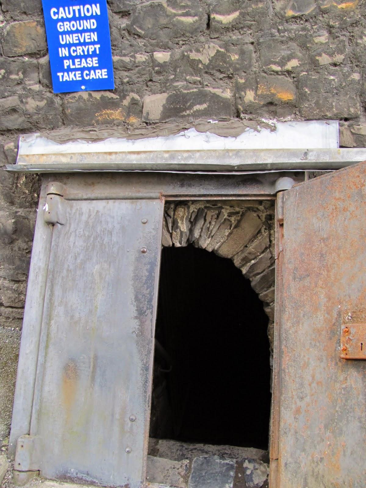 Entrance to the Crypt at St. Michan's Church Dublin, Ireland