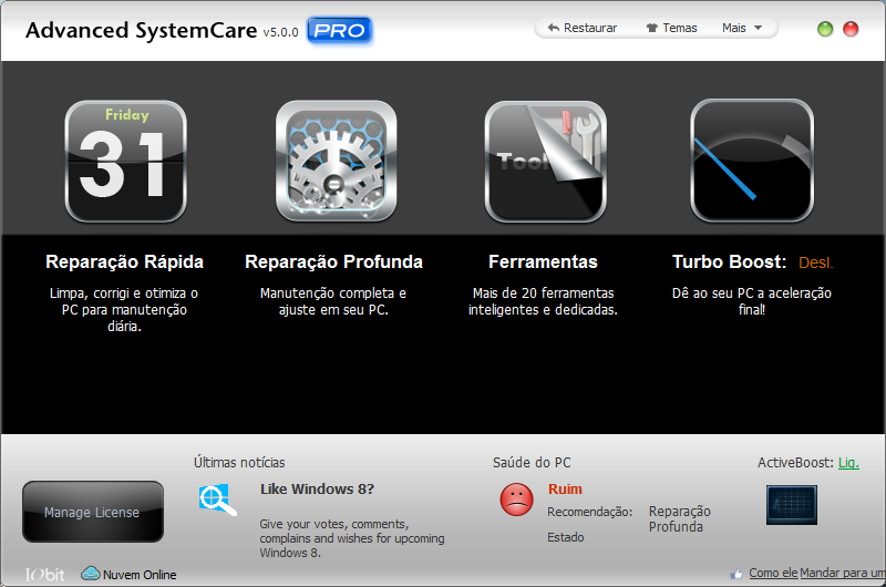 Advanced SystemCare Pro (Download Completo - Registrado)