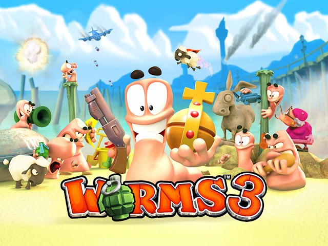 Download Worms 3 v2.04 Cracked Paid Apk For Android