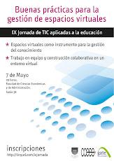Afiche IX Jornada de TICs aplicadas a la educación para docentes de la FCEA