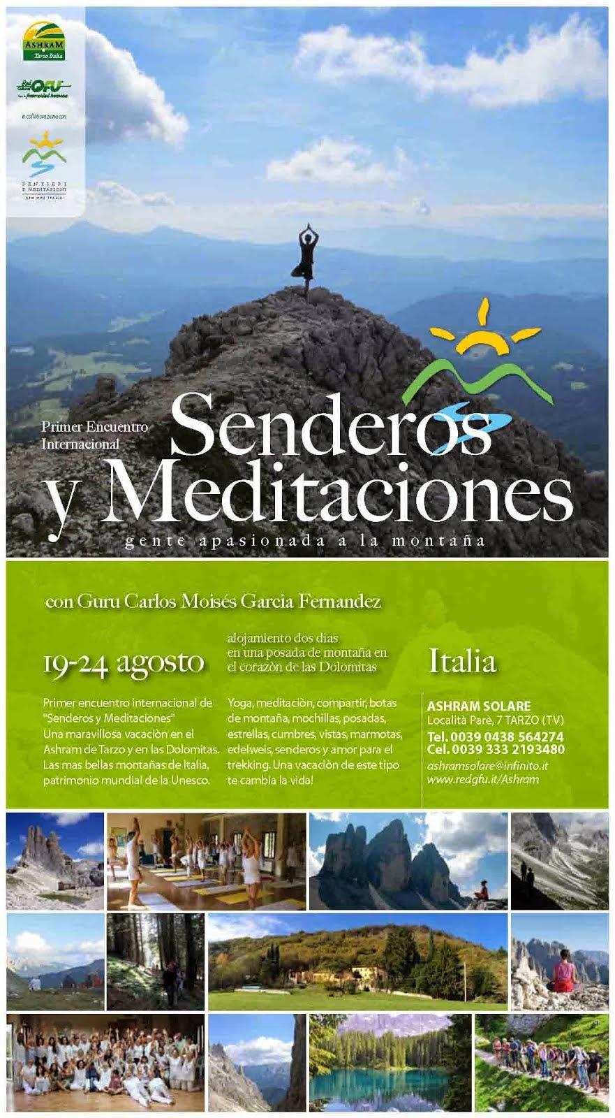 Encuentro internacional de Senderismo y Meditación en Tarzo y Las Dolomitas (Italia).