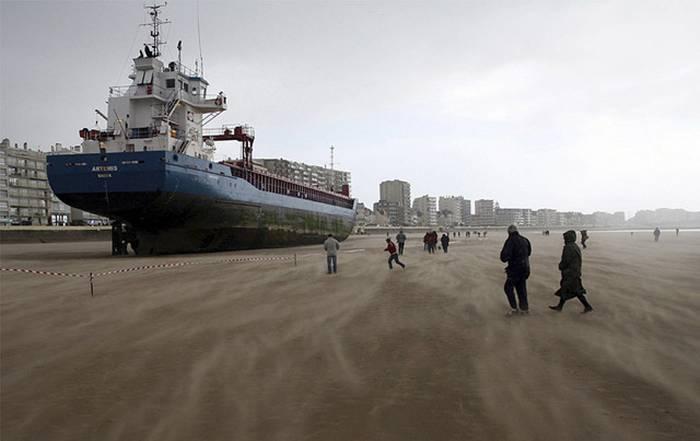 Dutch Cargo Ship  in Les Sables d'Olonne, on France's West Coast